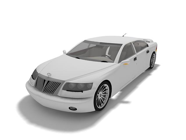 Brilliance car 3d rendering