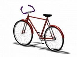 Hybrid bicycle 3d preview