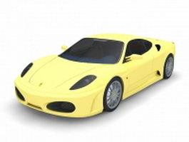 Ferrari F430 sports car 3d model preview