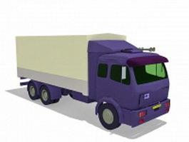 Box truck 3d model preview