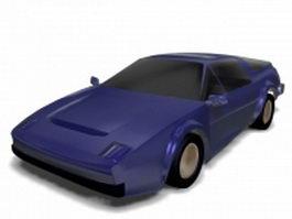 Dark blue roadster 3d preview