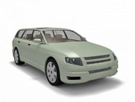 Combi car station wagon 3d preview
