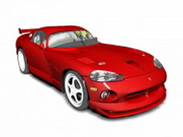 Red sports car 3d model preview