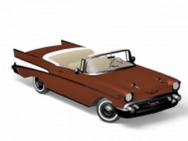 Chevrolet classic convertible 3d preview