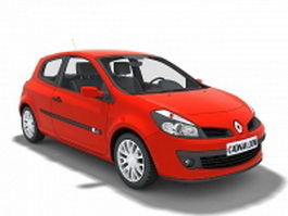 Renault supermini car 3d preview