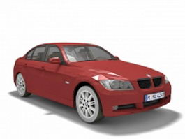BMW 3 compact executive car 3d model preview