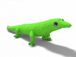 Green lizard 3d preview