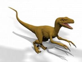 Velociraptor dinosaur 3d model preview