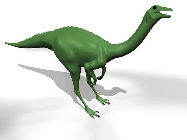 Gallimimus dinosaur 3d rendering