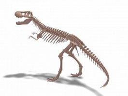 Tyrannosaurus skeleton 3d preview