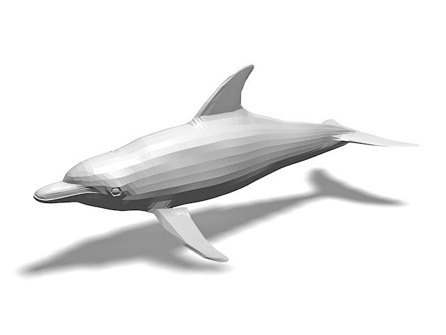 Oceanic dolphin 3d rendering