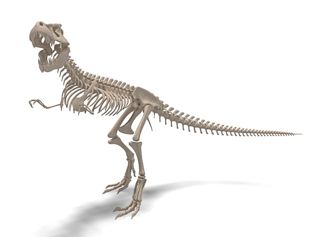 tyrannosaurid dinosaur skeleton 3d model 3ds max files 26412