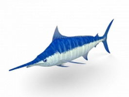 Blue marlin fish 3d preview