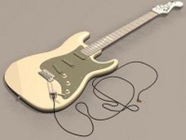 Electric bass guitar 3d model preview
