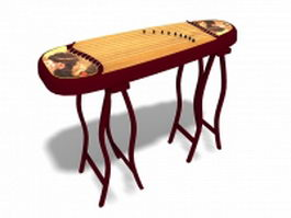 Chinese zither 3d model preview