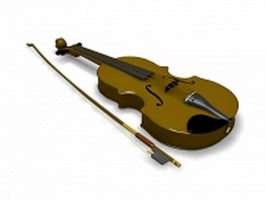 Violin instrument 3d preview