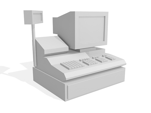 POS register 3d rendering