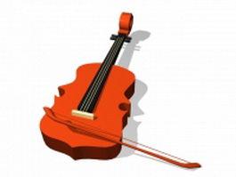 Cello instrument 3d preview