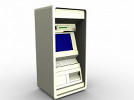 Automated banking machine 3d preview