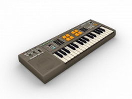 Casio electronic keyboard 3d preview