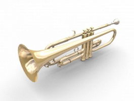Bass trumpet instrument 3d preview