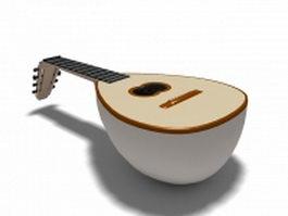 Lute renaissance instrument 3d preview