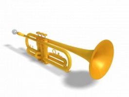 Trumpet instrument 3d model preview