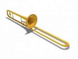 Trombone instrument 3d model preview