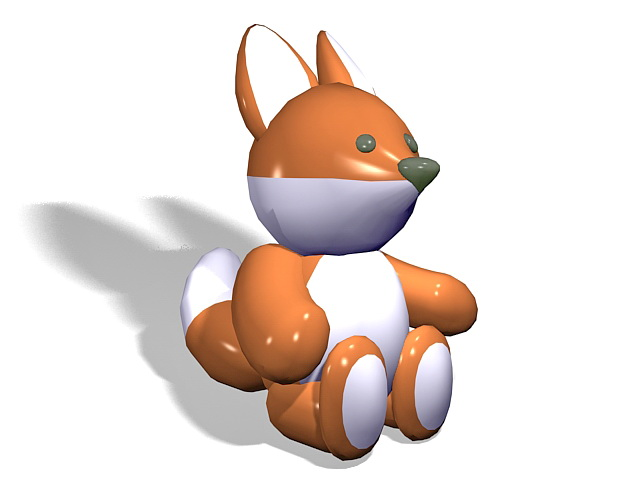 Inflatable squirrel toy 3d rendering