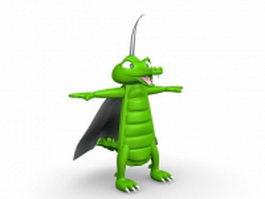 Cartoon bug monster 3d model preview