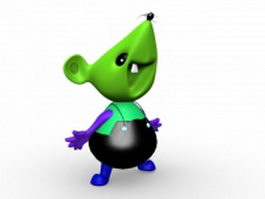Mouse cartoon character 3d preview