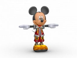 Mickey mouse cartoon character 3d model preview