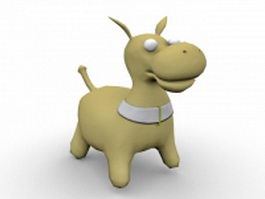 Cartoon donkey toy 3d model preview