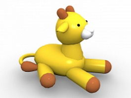 Inflatable animal toy 3d model preview