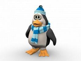 Old penguin cartoon 3d model preview