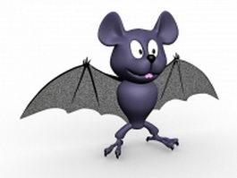 Cute bat cartoon 3d preview