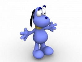 Cartoon dog character 3d preview