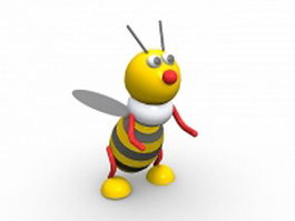 Cute cartoon bee 3d model preview