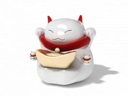 Japanese beckoning cat Maneki-neko 3d model preview