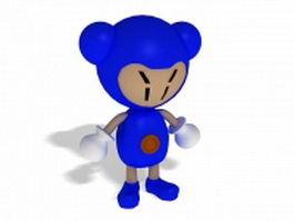 Funny cartoon character 3d model preview
