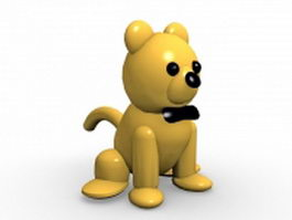 Cartoon dog sitting down 3d preview