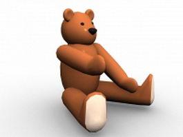 Cartoon bear sitting 3d preview
