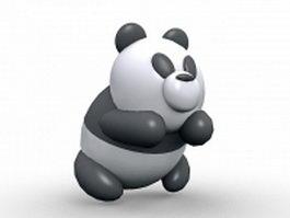 Cute panda cartoon 3d model preview