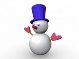 Cartoon Christmas snowman 3d preview