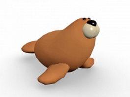 Cartoon sea lion 3d preview