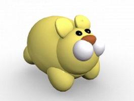 Fat cartoon rabbit 3d model preview
