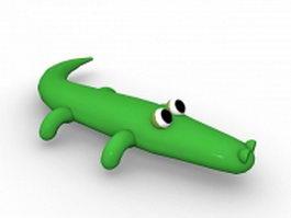 Alligator crocodile cartoon 3d model preview