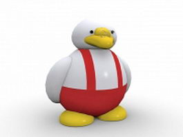Professor duck 3d model preview