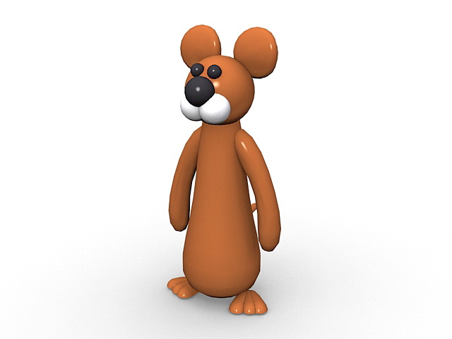 Cartoon mouse character 3d rendering