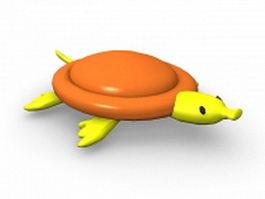 Cartoon sea turtle 3d model preview
